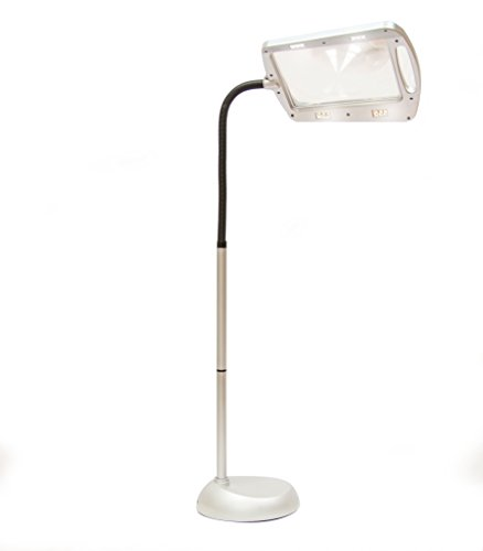 Balanced Spectrum Lighted Magnifier Floor Lamp Full Page