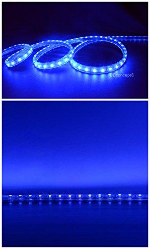 cbconcept 16 4 feet 120 volt high output led smd5050 flexible flat led strip rope light. Black Bedroom Furniture Sets. Home Design Ideas