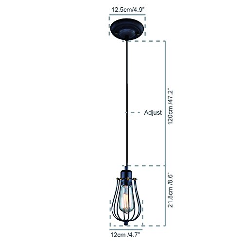 yobo lighting industrial edison hanging lamps oil rubbed bronze wire caged 1
