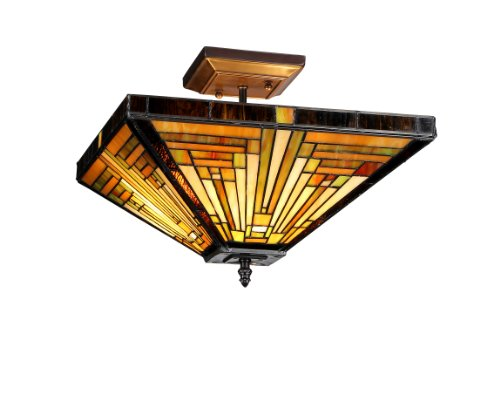 Decorative Star Ceiling Light Semi Flush Bathroom Fixture: Chloe Lighting Chloe Lighting Innes 2-Light Tiffany Style