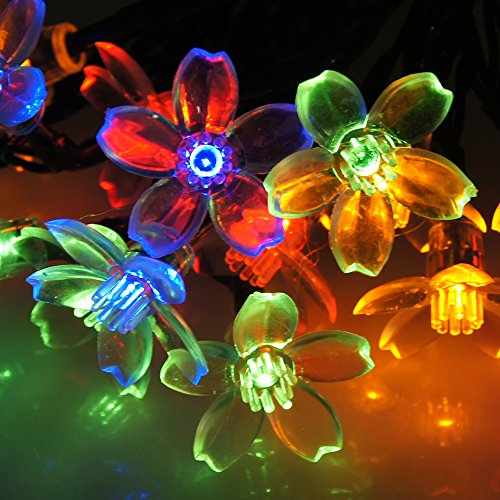 Dalmi Solar Powered String Lights Multi Colored Flower