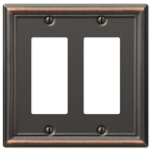 Decorative wall switch outlet cover plates oil rubbed bronze double rocker gfci bulbs - Wall switch plates decorative ...