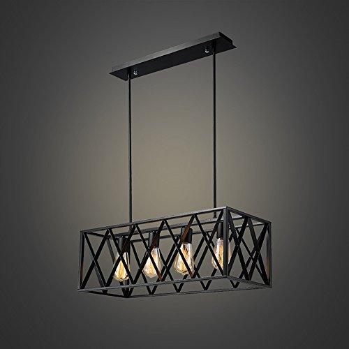 Efine Vintage Industrial Lighting 4 Lights Edison Retro