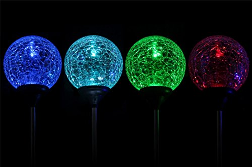 esky sl75 crystal glass globe color changing led solar lights christmas