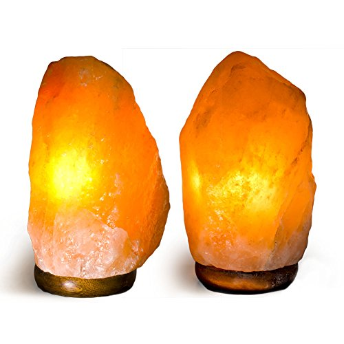 Fantasia lighting top12 set of 2 top grade 7 to 8 for Certified himalayan salt lamp