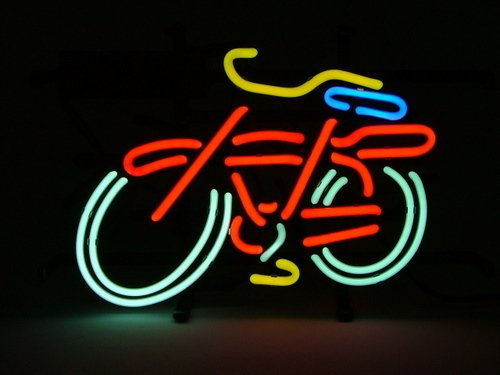 Fat Tire Bicycle Bike Logo Beer Bar Real Glass Tube Neon Light Sign 14
