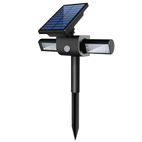Best Solar Landscape Lights 2019: InnoGear Solar Lights With USB Charging Port Dual Head