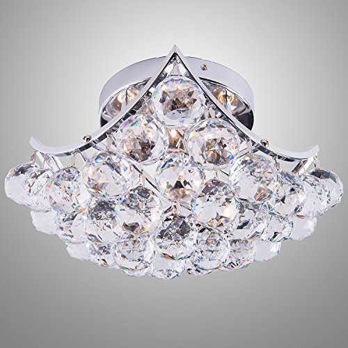 Joshua marshall home collection 10611 clear swarovski or european crystals 4 bulb multi light Home decorators collection 4 light chrome flush mount
