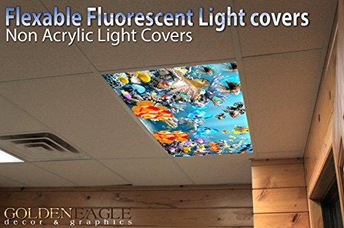 Kids Ocean Reef 3 Drop Ceiling Fluorescent Decorative