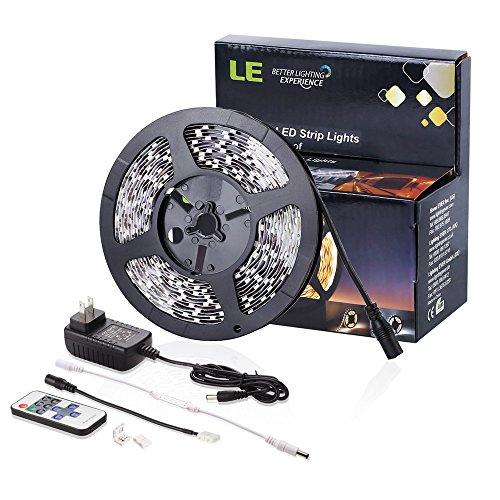Le 12v Flexible Led Strip Lights 3000k Warm White 300: LE® 12V Flexible LED Strip Lights Kit, LED Tape, 3000K