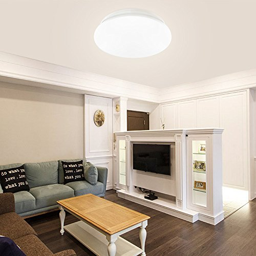 40w Led Ceiling Light Fixture Lamp Flush Mount Room: LE® 18W 14-Inch Daylight White LED Ceiling Lights, 120W