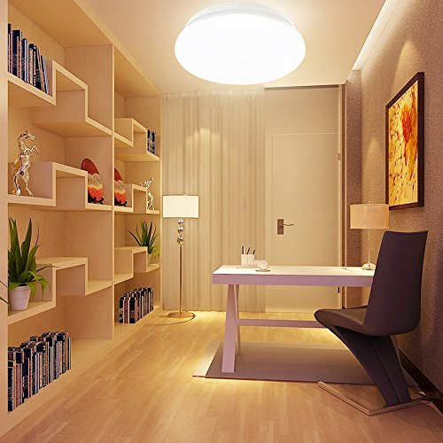 22 Cool Living Room Lighting Ideas And Ceiling Lights: LE® 12W 11-Inch Warm White LED Ceiling Lights, 80W