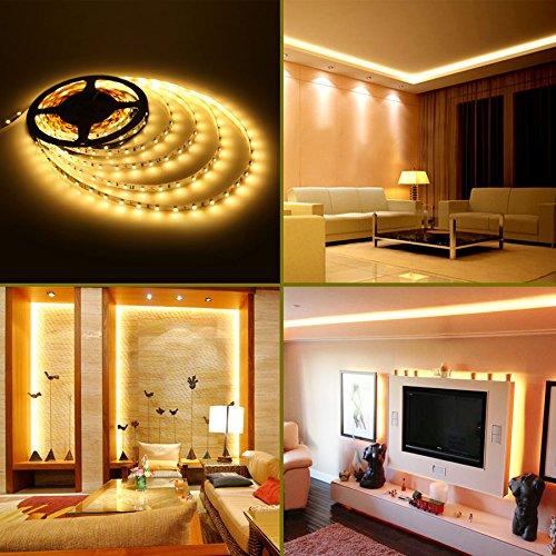2 Watt 268mm 240 Volt Led Strip Light Fitting: LE® 2 Pack * 16.4ft LED Strip Lights, 300 Units SMD 3528