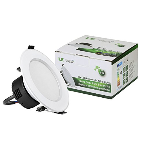 Le pack of 4 units 8w 35 inch led recessed lighting 75w halogen le pack of 4 units 8w 35 inch led recessed lighting 75w halogen bulbs equivalent not dimmable led driver included 400lm daylight white 6000k aloadofball Images