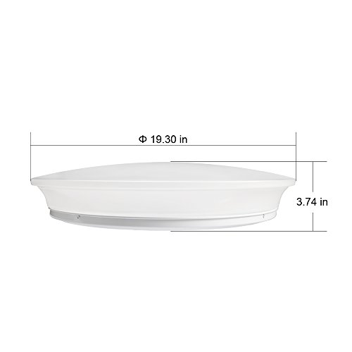 40w Led Ceiling Light Fixture Lamp Flush Mount Room: LE® 40W Dimmable Daylight White 19.3-Inch LED Ceiling