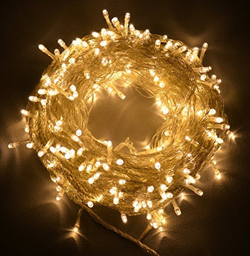 Leazeal 300 Led Christmas Lights String Fairy Lights For Indoor