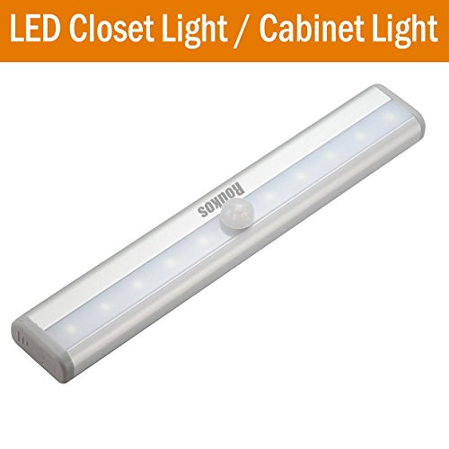 led closet light roukos wireless rechargble 10 led