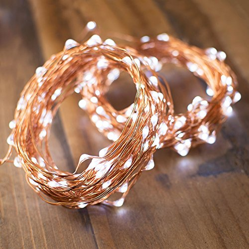 LED Fairy Light String Lights, 50 Feet Long, 200 LEDs, Outdoor Waterproof Strand, Starry Lights ...