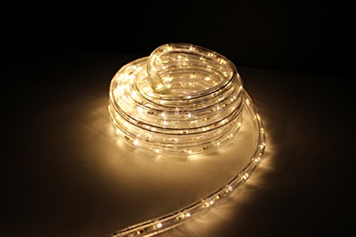 Led rope light warm white led rope light kit for 120v christmas led rope light mozeypictures Gallery
