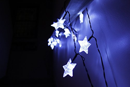 Led Star Lights String Large White Star Shaped Covers