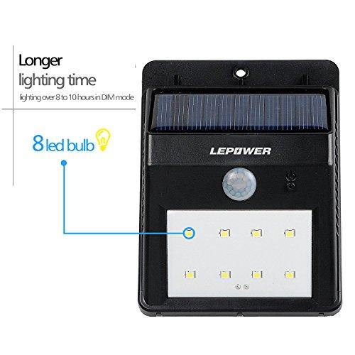 LEPOWER Bright LED Wireless Waterproof Solar Light Motion Sensor/ Solar Light Outdoor/ ...  sc 1 st  Bulbs u0026 Fittings Ideas & LEPOWER Bright LED Wireless Waterproof Solar Light Motion Sensor ...