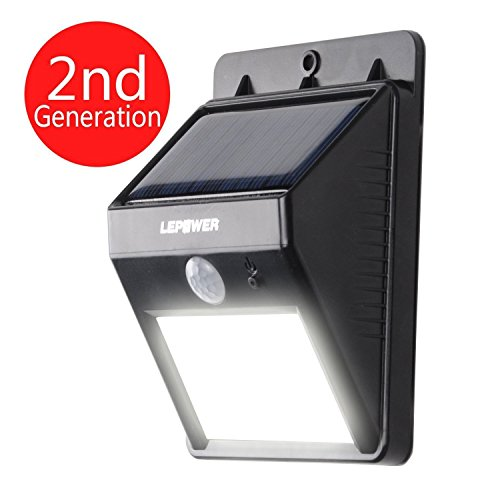 Lepower Bright Led Wireless Waterproof Solar Light Motion