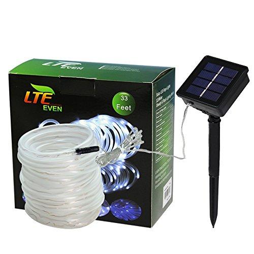 LTE 100 LED Solar Rope Lights ...  sc 1 st  Bulbs u0026 Fittings Ideas & LTE 100 LED Solar Rope Lights33ft Outdoor Waterproof Solar Rope ...