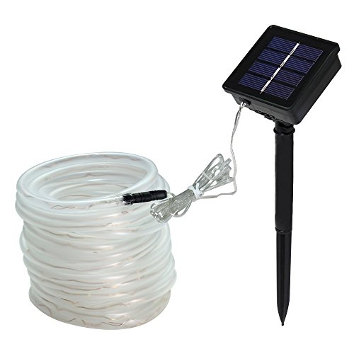 Lte 100 led solar rope lights33ft outdoor waterproof solar rope lte 100 led solar rope lights aloadofball Image collections