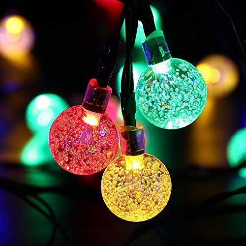 luckled globe solar outdoor string lights
