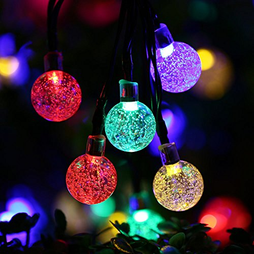 Luckled Globe Solar Outdoor String Lights 20ft 30led
