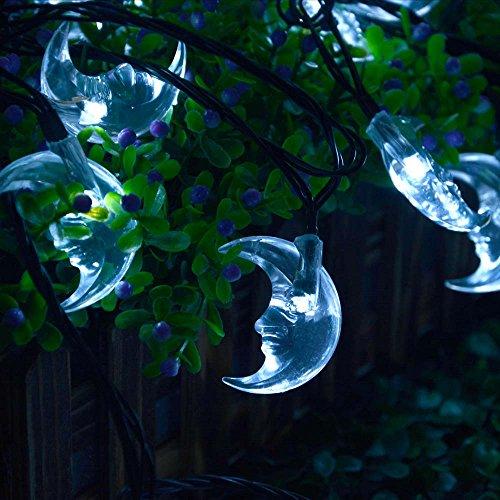 Luckled Original Moon Solar String Lights 20ft 30 Led