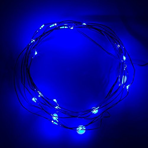 Lily s Home Battery Operated 20 LED String Lights on Silver Wire 7ft Long. For Floral ...