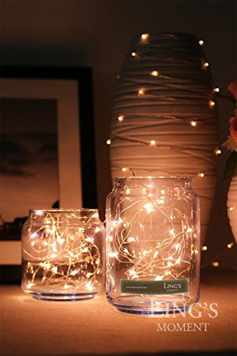 Ling\'s moment Warm White Starry Lights Fairy Lights Copper LED ...