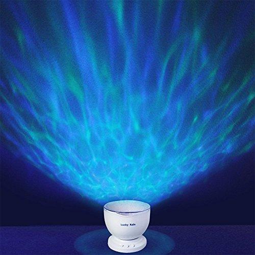 Lucky Rain Ocean Wave Projection Night Light Music Player
