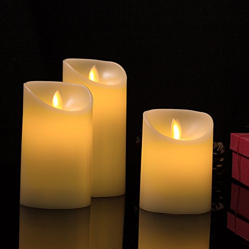 Moving Wick Led Flameless Candles Warmer Romantic Battery
