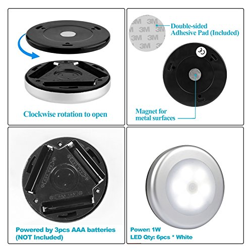 Led Garage Lights Battery: OTTFF Motion Sensor LED Cabinet Light Battery Powered LED