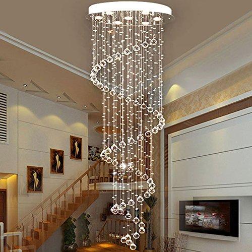 Saint mossi modern rain drop led crystal droplet chandelier swirl previousnext aloadofball Gallery