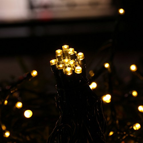 Solar Powered LED String Lights Outdoor Waterproof, ICICLE