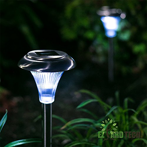 Outside Lights No Earth: Solar Powered Path Lights- Set Of 10 Outdoor Garden And