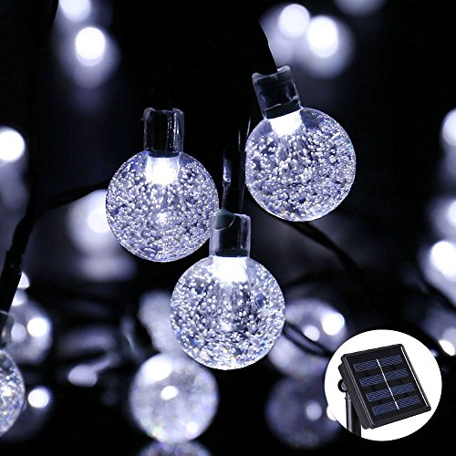 Solar Patio String Lights Walmart: Solar String Lights, Outdoor Globe Lights By ICICLE, 20ft