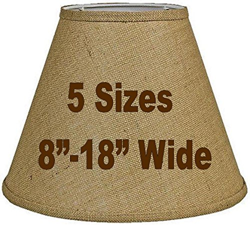 Tapered Burlap Lamp Shade Sizes 8 18 W Vintage Rustic
