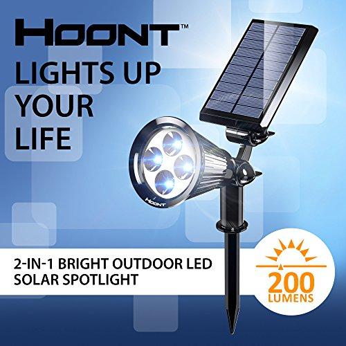 The hoont 2 in 1 bright outdoor led solar spotlight solar powered the aloadofball Gallery