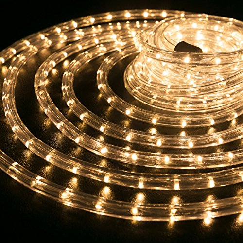 50 100 150 300 Led Rope Light Home Outdoor Christmas: WYZworks Warm White 1/2″ Thick (10′, 25′, 50′, 100′, 150