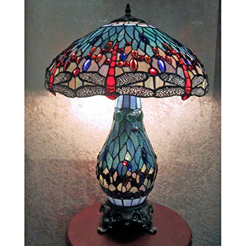 Warehouse Of Tiffany Dragonfly Table Lamp With Lighted