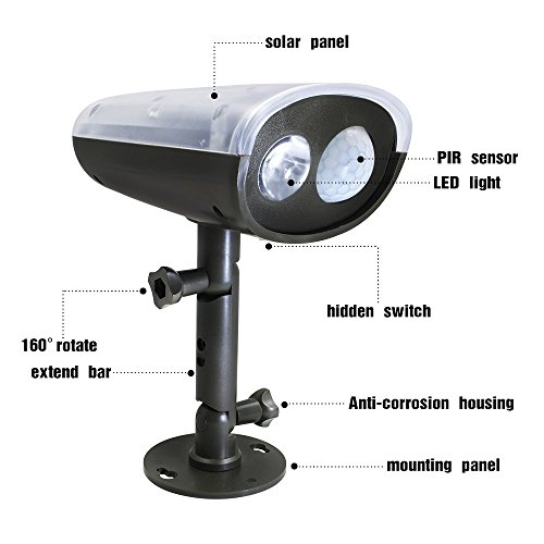 Wireless Outdoor Garage Lights: Wireless Solar Motion Sensor LED Security Light W