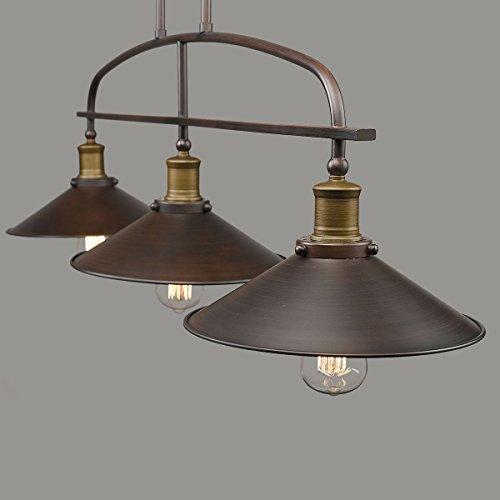 YOBO Lighting Antique Kitchen Island Pendant, 3-light