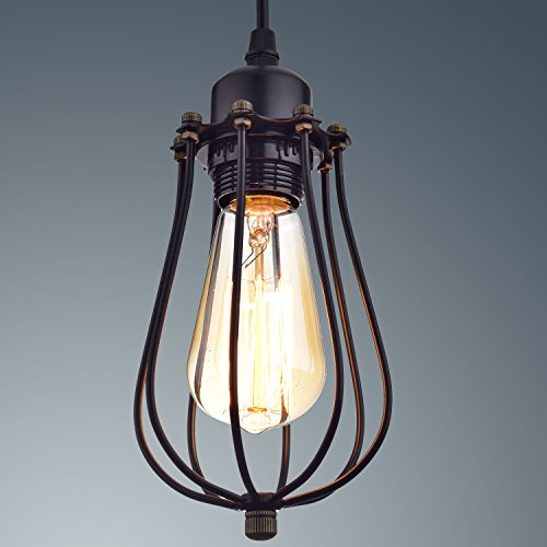 Edison Bulb Light Ideas 22 Floor Pendant Table Lamps: YOBO Lighting Industrial Edison Hanging Lamps Oil Rubbed