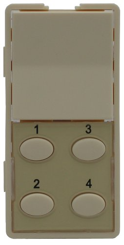 Simply Automated ZS25O-A Single-Rocker with Oval 4-Button Faceplate, Almond Reviews