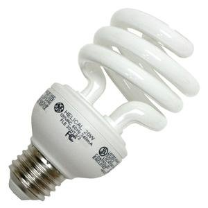 GE Lighting 20W Compact Fluorescent T3 Spiral Bulb