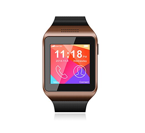 GSM Bluetooth Smart Watch Phone Sleep Monitoring MP3 MP4 Touch Screen Camera Smartwatch(Champagne)